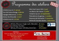 Programme des Ateliers de Dégustation 2020 Vin & Whiskys à Caen Bellengreville